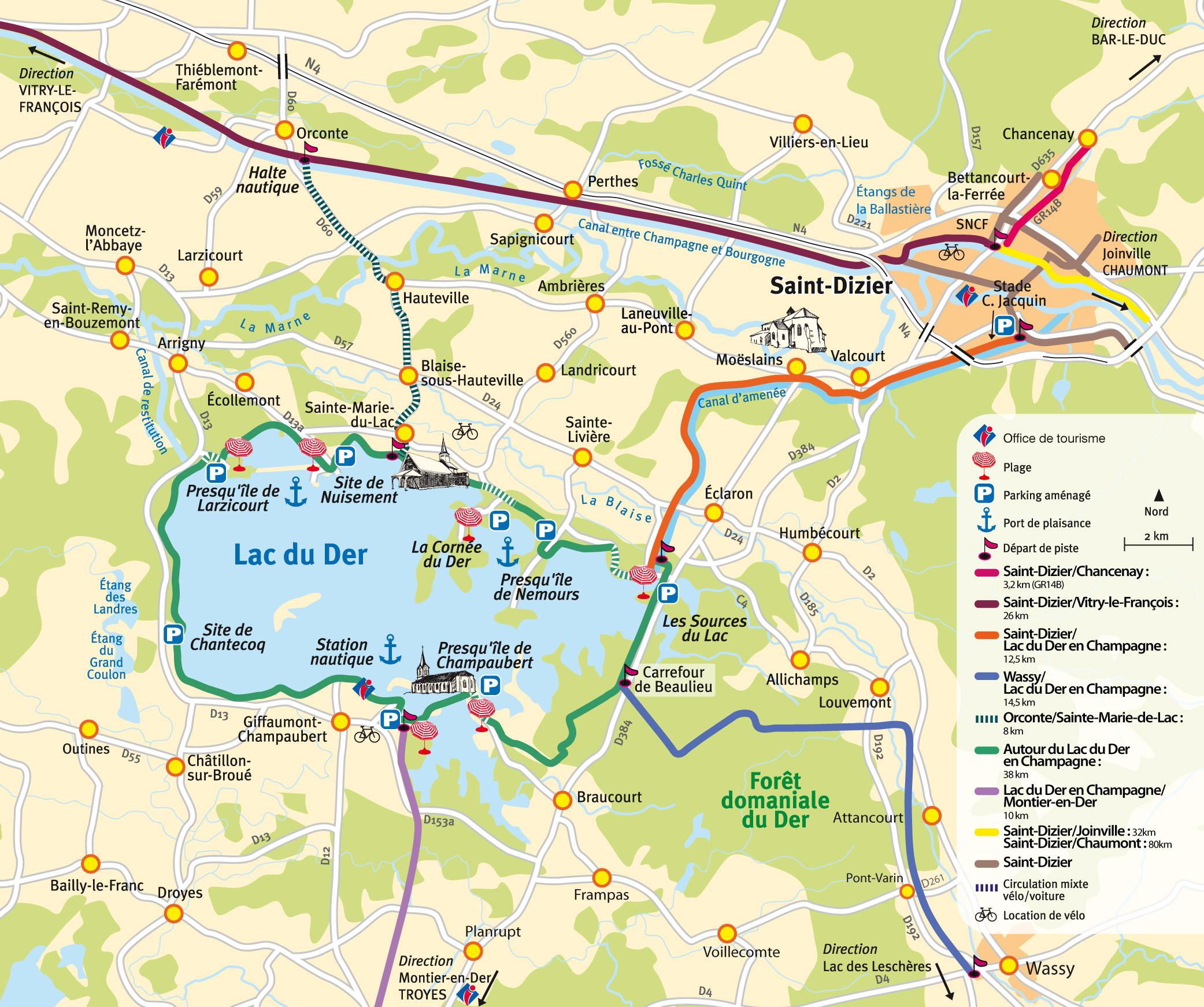 Pistes cyclables saint dizier ville et agglom ration - Office tourisme lac du der ...